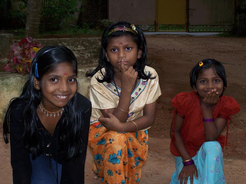 Bildergalerie Mädchen 3 Kinder Indiens auf art-traveller.com